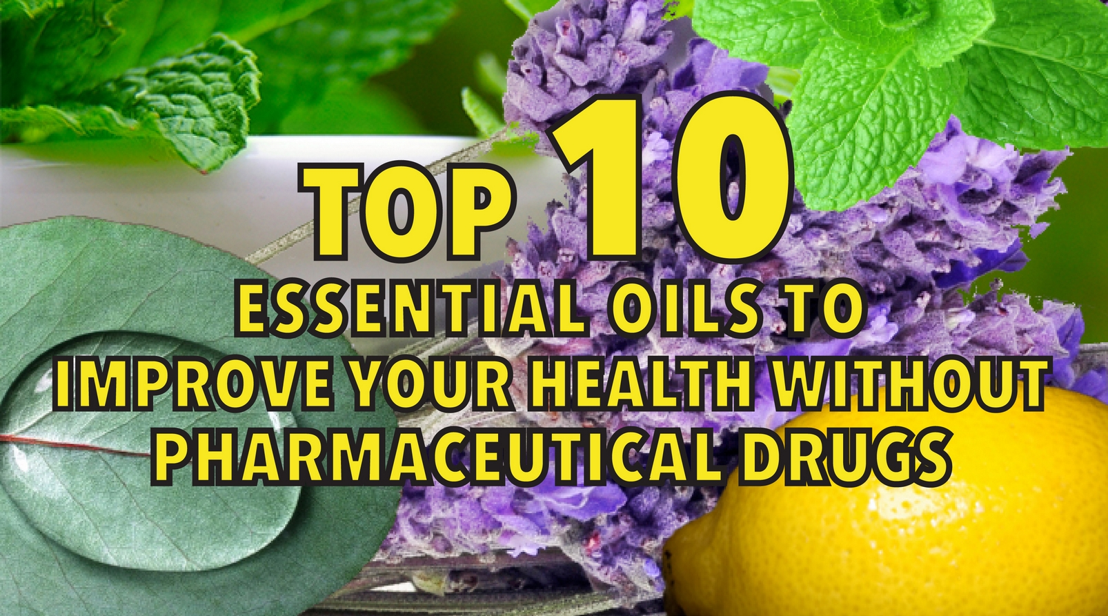 Top 10 essential oils to improve your health without pharmaceutical drugs
